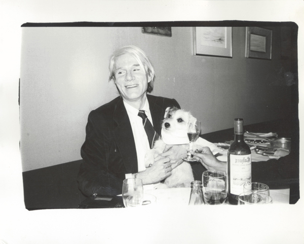 Andy Warhol with a dog. Credit: Christie's Images LTD 2015
