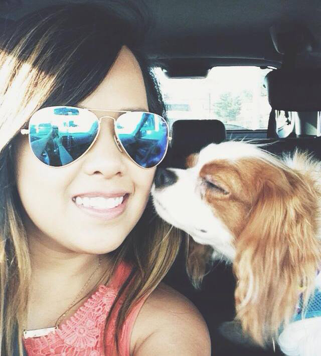 Nina Pham and Bentley together in happier days. (Image courtesy Nina Pham's Facebook page)