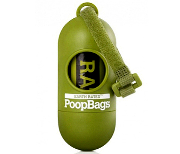 Earth rated dog poop bags.