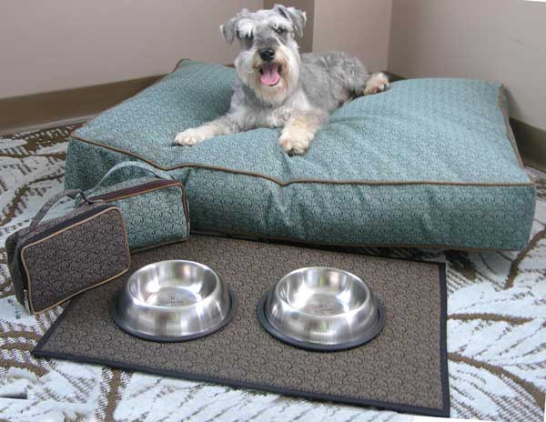The Doggie Bed And Accessories Available At Hilton Hotels