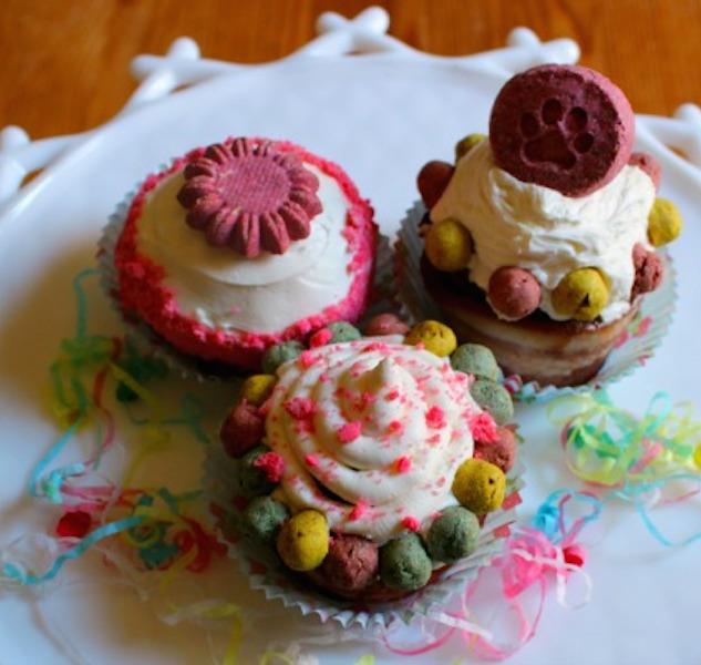 Dog Treat Recipe of the Month: Kira's Savory Birthday Cupcakes!