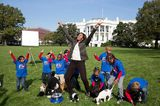 Michelle Obama Was Seen Today on the White House South Lawn … with Puppies