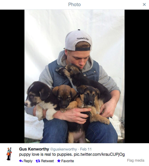 Skiier Gus Kenworthy Finds Real Puppy Love with Sochi's Strays