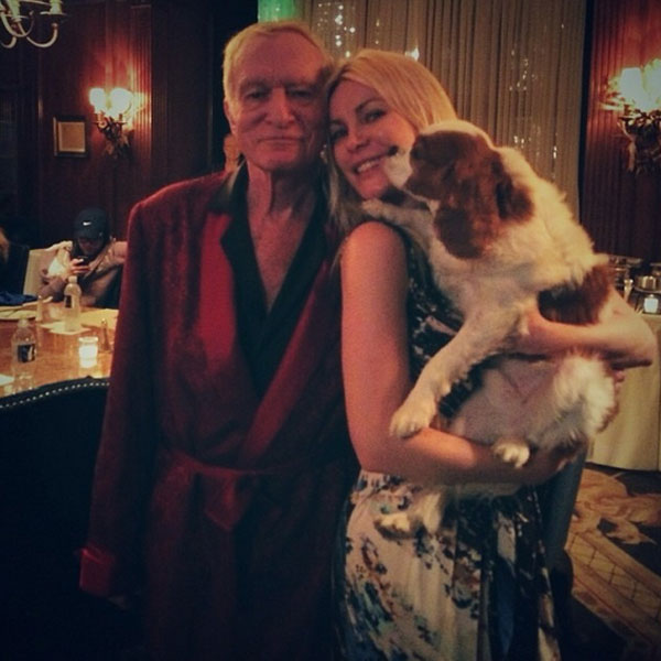 Meet Crystal Hefner's Charlie, the Cavalier King Charles Who Rules the Playboy Mansion