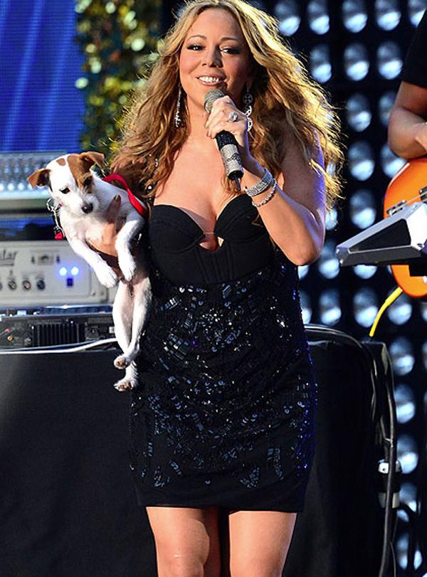 Mariah Carey Wears Bikini to Walk Dog in Snowstorm