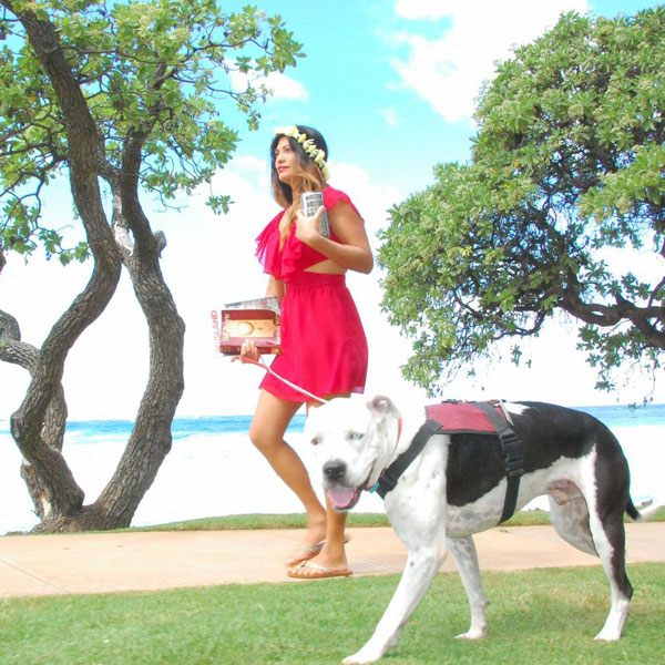 We Talk to Veronica Grey the Surf Lady and Her Dog, Flash