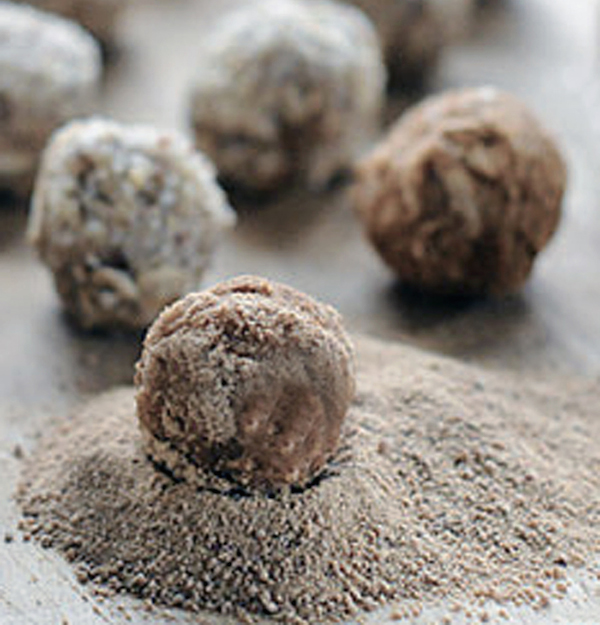 Nutty nuggets, a treat using coconut oil for dogs.
