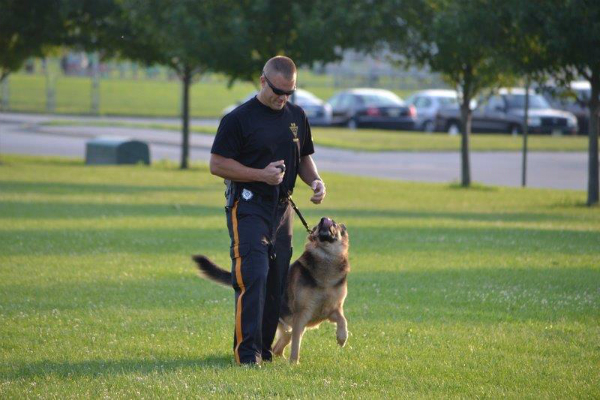 K9 Aron and Officer Ziegler