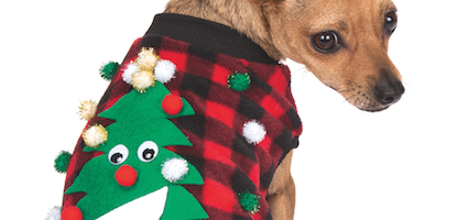 make an ugly christmas sweater for your dog