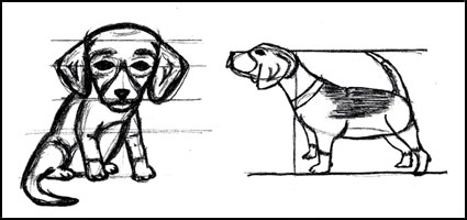 how to draw an easy puppy