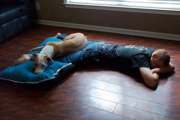 Axle strongly believes in naps. Pictured: Axle, Josh Lodge Photo by Meghan Lodge
