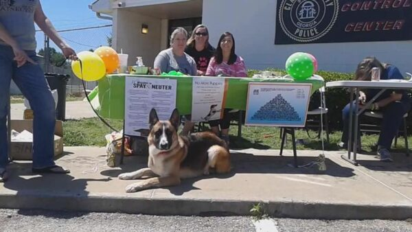 NMPGA volunteers (from left to right) Carole Smrecak, Kerrie Rich, and Ashleigh Ouimette at a recent CCAC adoption event. (Photo courtesy NMPGA)