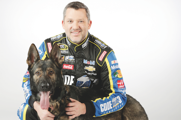 Tony Stewart and Max. (Photo courtesy 2016 Stewart-Haas Racing/ Harold Hinson Photography)