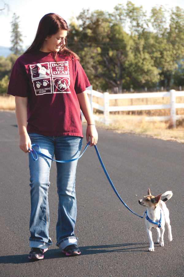 Trainer Chelsey and hearing dog Gracie. (Photo courtesy Dogs for the Deaf)
