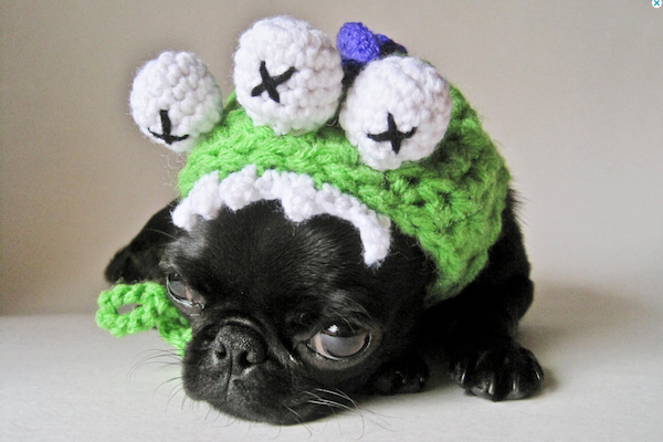 Crocheted monster hat by HandmadeMonster.