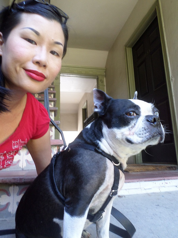 Lili Chin and her muse, Boogie. (Photo courtesy Lili Chin)