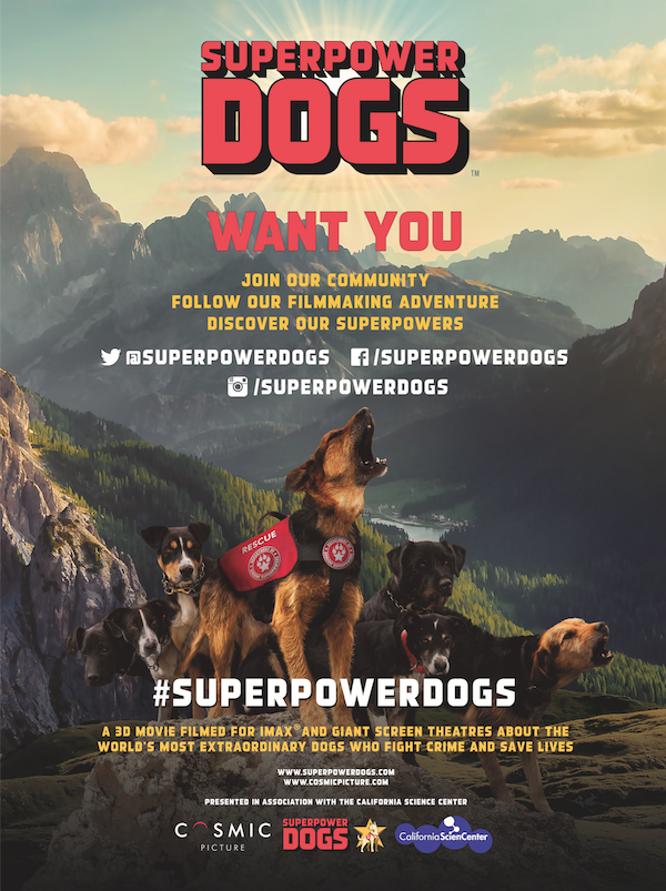 Help Quot Superpower Dogs Quot Get To Giant And Imax Screens