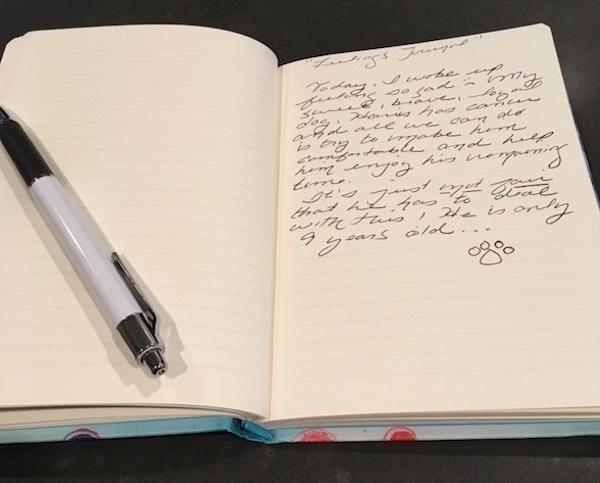Feelings journal. (Photo by Chris Corrigan Mendez)