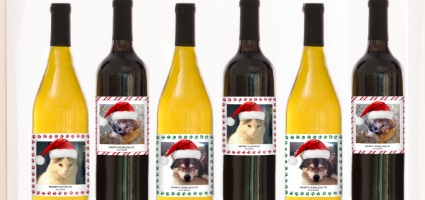Put Your Dogs Face On A Wine Bottle And Also Help Guiding Eyes