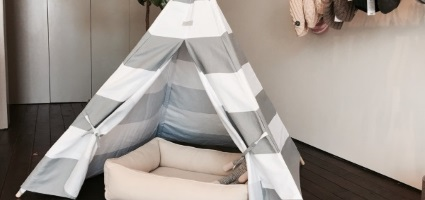 & This Pet Teepee Gives Your Dog Their Own Stylish Space