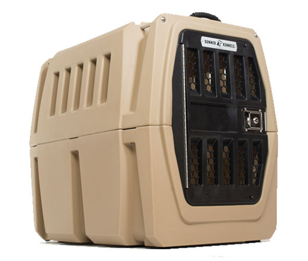 Gunner G1 Intermediate Kennel with strength-rated anchor straps. (Photo courtesy Gunner)