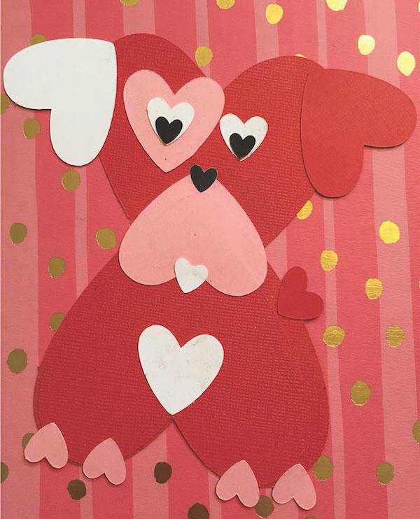 Valentine's Day dog craft by Samantha Meyers.