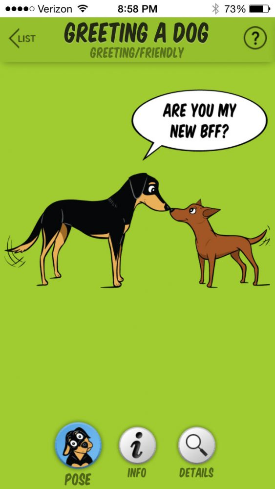 A happy greeting. (Image from Dog Decoder smartphone app/illustration by Lili Chin)