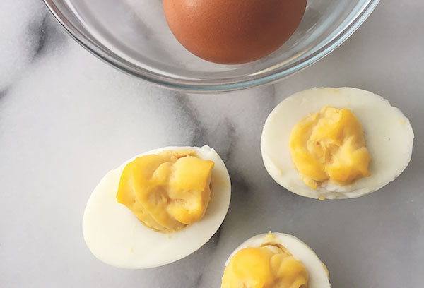 Dog-friendly deviled eggs by Samantha Meyers.