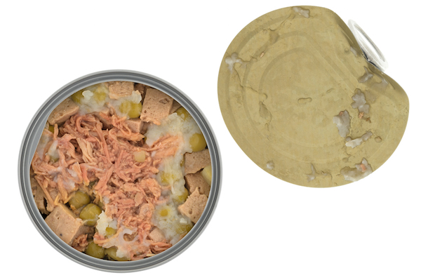 Canned dog food by Shutterstock.