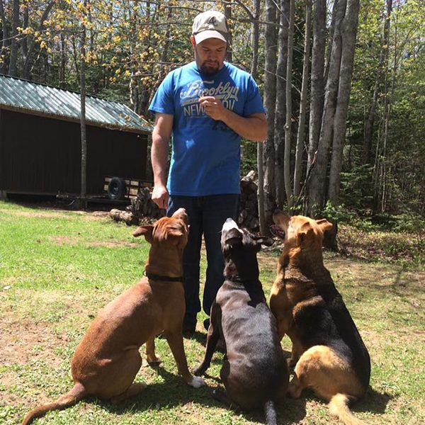 """Daniel and his furgirls."" -Submitted by Facebook user Kysha Winchester"