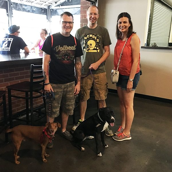 My cousin Grant, his wife Jenn and their sweet rescue dog Lottie joined my husband Scott, Tampa Bay and me.