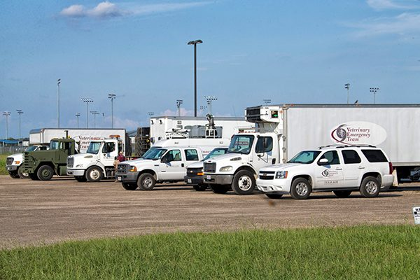 The Texas A&M Vet Fleet helping during Hurricane Harvey.