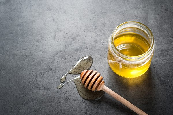 a jar of honey.