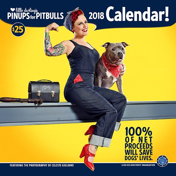 Pinups for Pitbulls 2018 calendar.