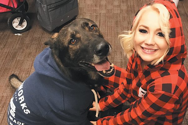 RaeLynn and Jazz the dog.