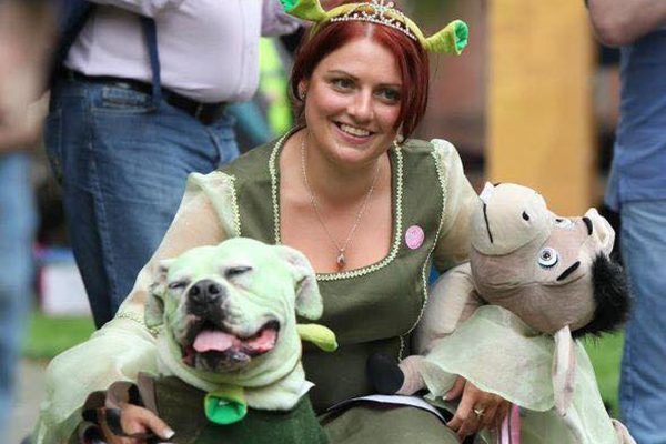 Frankie as Shrek with his human mom as Princess Fiona. Submitted by Facebook user Rachel Heyes.