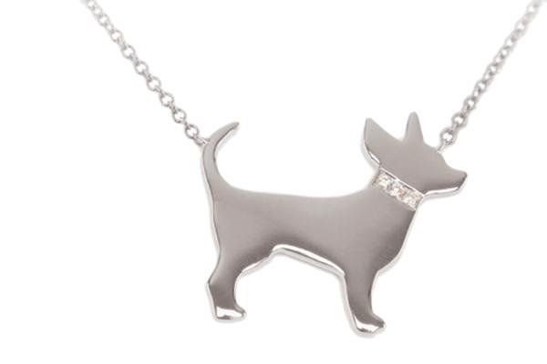 Carrie Cramer dog necklace.
