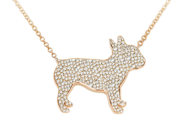 Carrier Cramer k9 silhouette necklaces.