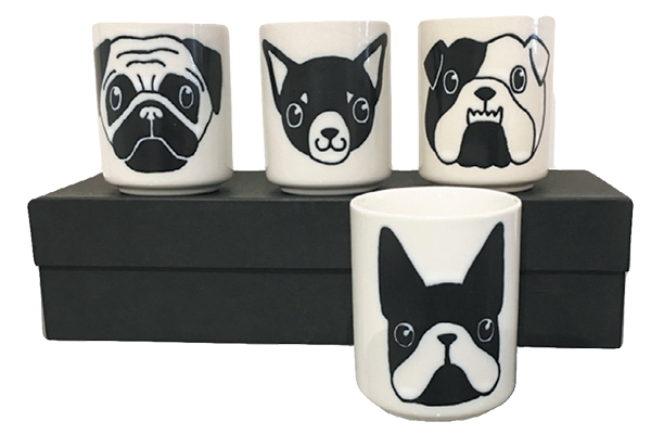 Sylvester & Co.'s Dog Face Mugs.