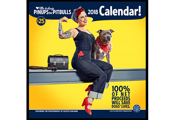 Pinups for Pitbulls calendar.