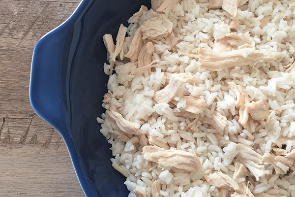 Dog-friendly Soothing Chicken and Rice.