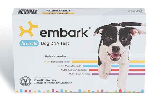 Embark's dog DNA test.
