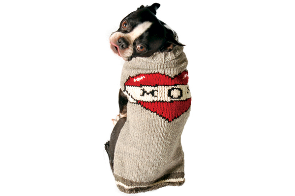 Chilly Dog Tattooed Mom Handmade Wool Sweater.