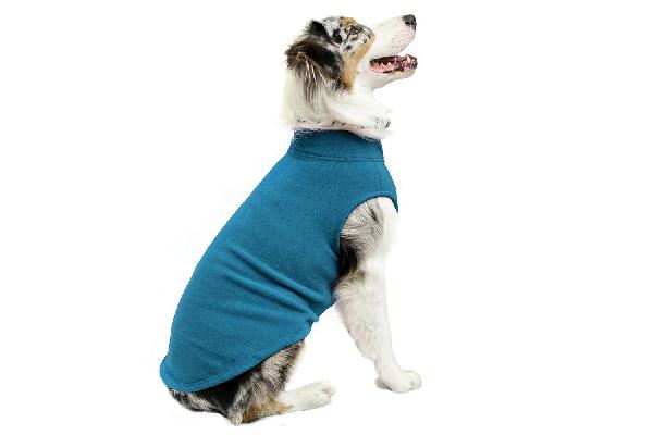 Fleece dog coat.