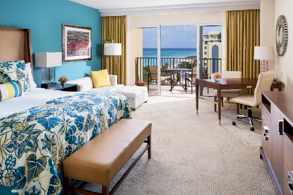 The rooms come with private balconies to enjoy the view.