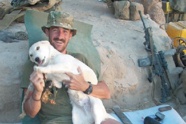 Craig and Fred in Afghanistan.