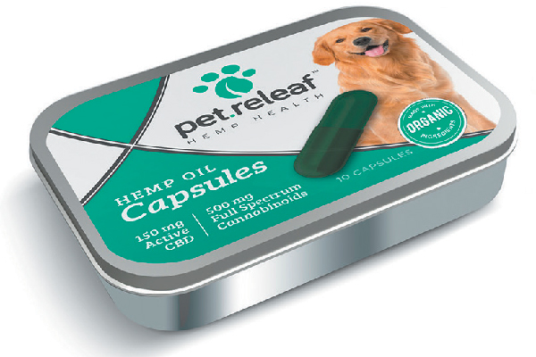 Pet Releaf CBD-Infused Capsules 10-Pack.