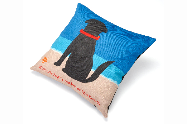 Up Country Dog-Themed Accent Pillows.