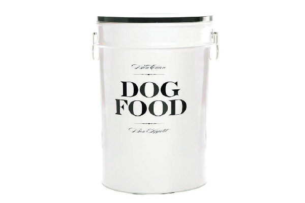 Look for this fun dog food storage container at sylvesterandco.com