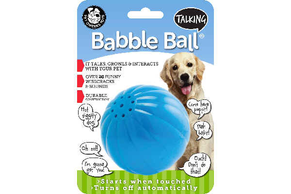Talking Babble Ball Dog Toy, Pet Qwerks ($5.66). chewy.com
